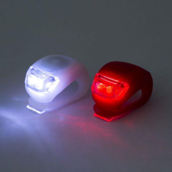 LED-es kerékpár lámpa szett szilikon borítással 57069