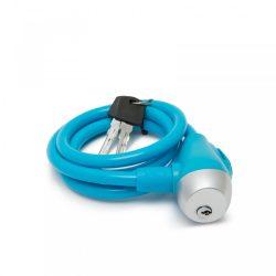 Kerékpár sodrony lakat 10 mm / 120 cm - kék  57077BL