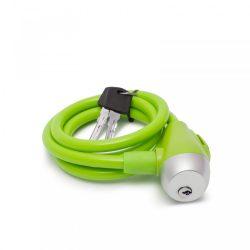 Kerékpár sodrony lakat 10 mm / 120 cm zöld 57077GR