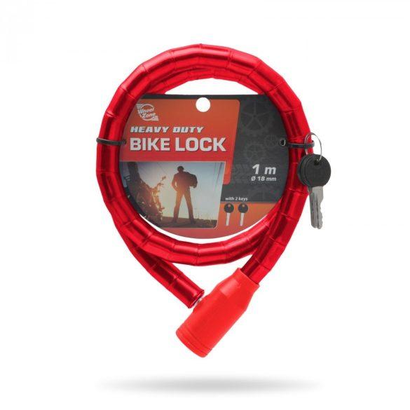 Kerékpár görgős lakat 18 mm / 100 cm fekete 57078BK