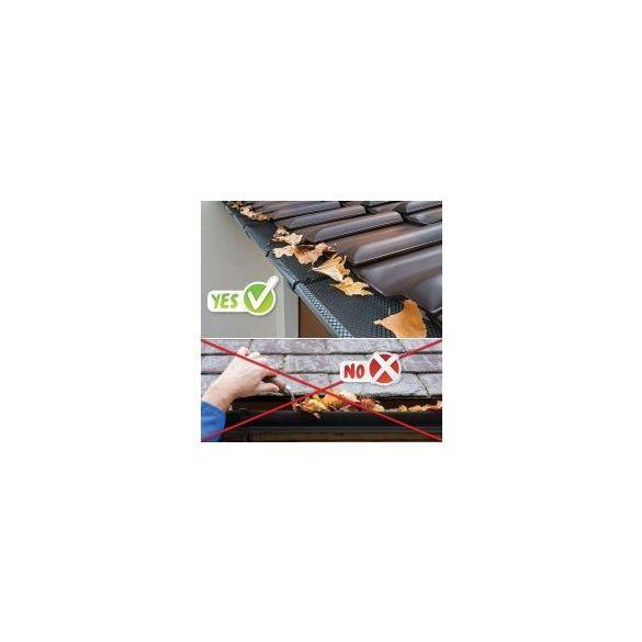 Ereszcsatorna védő lombfogó háló 15 cm x 6 m 57090