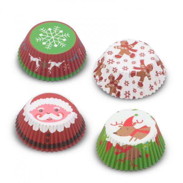 Muffin papír szett - karácsonyi - 100 db / csomag