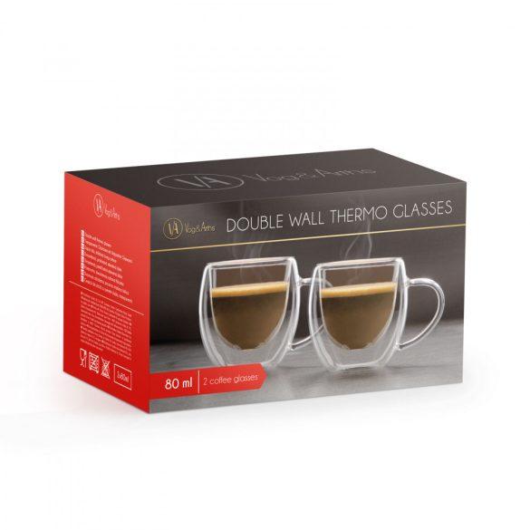 Duplafalú üveg csésze - 80 ml - 2 db / doboz 57176A
