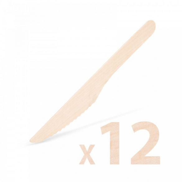 Fa evőeszköz készlet - kés - 12 db 57326B