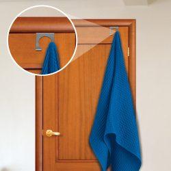 Dupla karos törölköző akasztó ajtóra rozsdamentes 3 féle