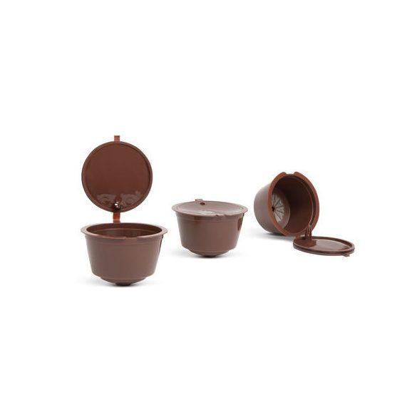 Újratölthető műanyag kávékapszula 5 db / csomag  Kompatibilis:Dolce Gusto kávégépekkel: Circolo, Genio2, Mini, Mini Me, Melody