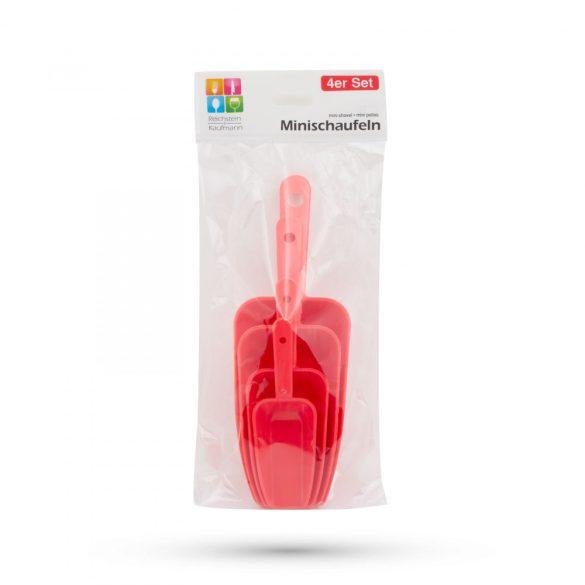 Műanyag lapát szett - 4 szín - 4 db / csomag 57514