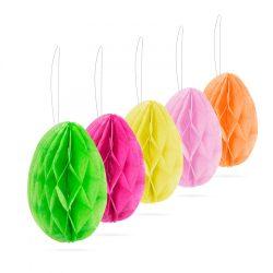 Húsvéti lampion - felakasztható tojás alakú - papír - 5 db / csomag  57905