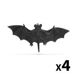 Denevér szett - halloween-i dekoráció - fekete - 4 db / csomag 58103A