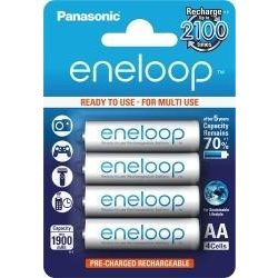Panasonic AA Eneloop 1900mAh (4) BK-3MCCE/4Bl akkuk