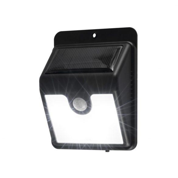 1SOLAR Szolárpaneles LED lámpa mozgásérzékelővel, fekete