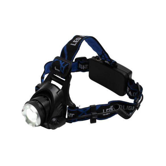 LED-es tölthető fém fejlámpa, ZOOM,