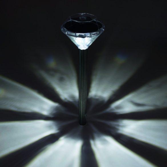 Home Napelemes kerti lámpa,kristály forma 4db  MX 802/4