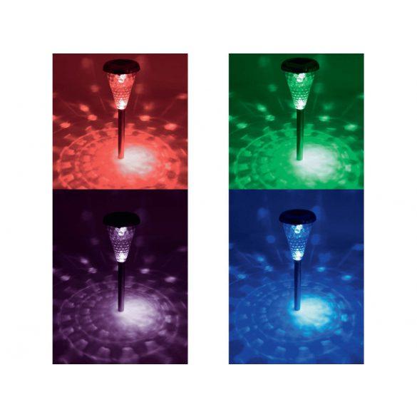 Home Napelemes kerti lámpa, fém, színváltós, 4db MX 811/4
