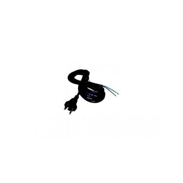 Steck Flexo kábel, fekete, 3 m, gumi 2x1,5   szerelt vezeték Gumi SHl 2153