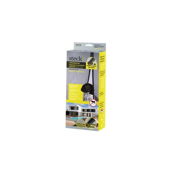 Üvegszálas mágneses rovarháló ajtóra, fekete   2400x1000mm, SRM 2240