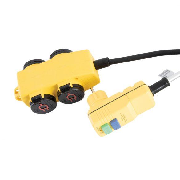 STANLEY 4-es elosztó kapcsolóval, RCD dugóval SXECCR25AJE