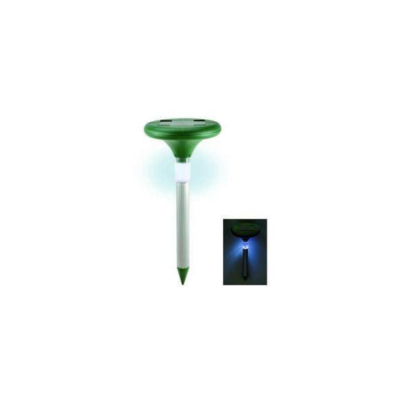 Napelemes vakondriasztó karó LED fénnyel, 800 nm
