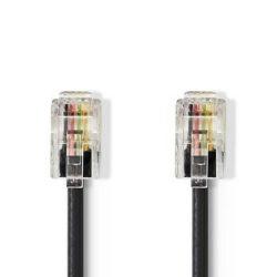 Telekommunikációs kábel | RJ10 Dugasz - RJ10 Dugasz | 2,0 m