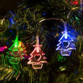 Karácsonyi fényfüzér Ledes
