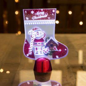 Karácsonyi asztali dísz, LED gyertya